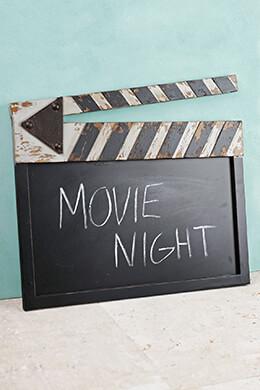 """Chalkboard 20"""" Director's Clapboard"""