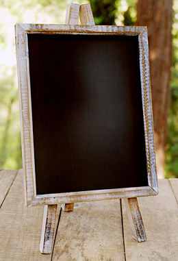 "Chalkboard Table Top Easel 8"" x 10"", Wood Frame"