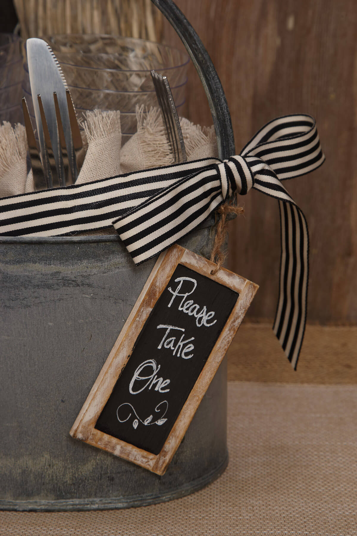 12 Chalkboard Tags with Wood Frame, 2x4 Double Sided