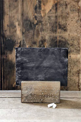 Chalkboard with Wood Holder 8x8