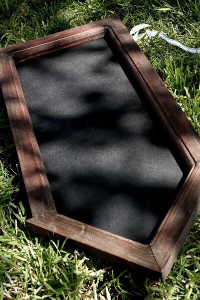 Handmade Wood Framed Chalkboard Arrow