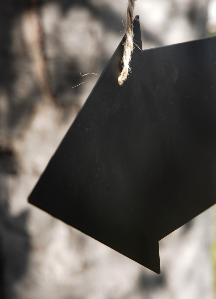 Arrow Chalkboard With Twine For Hanging Double Sided 15in