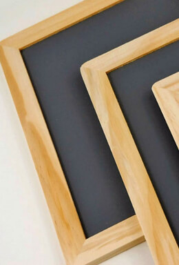 Wood Framed Chalkboards 7x10  (Pack of 6)
