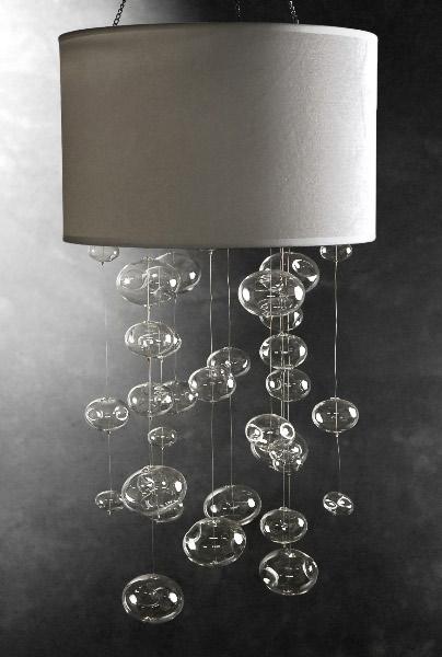 Glass Bubble Chandelier WHITE
