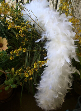 Chandelle White Boa 76in 80 grams