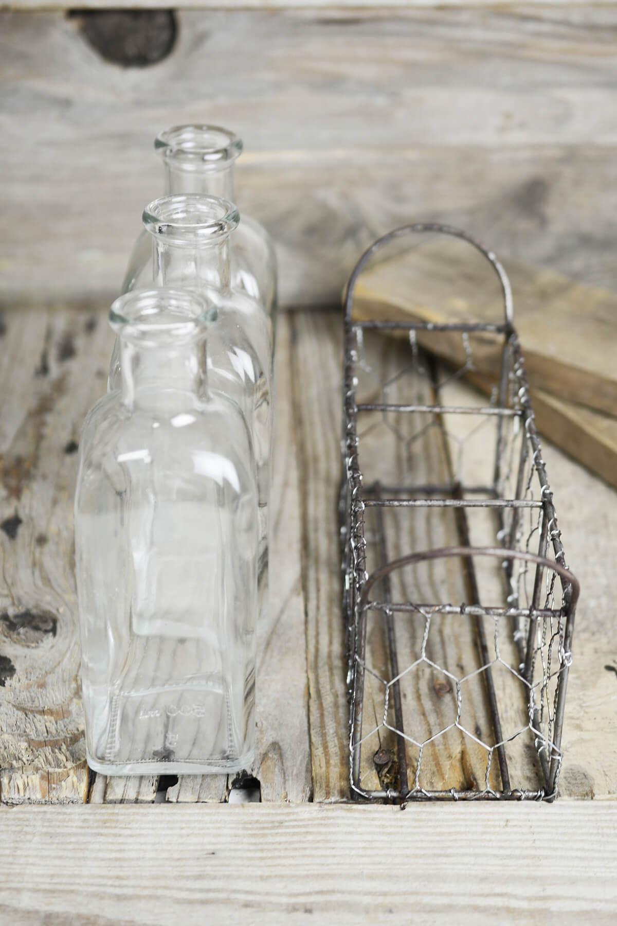 3 Bottle Chicken Wire Basket