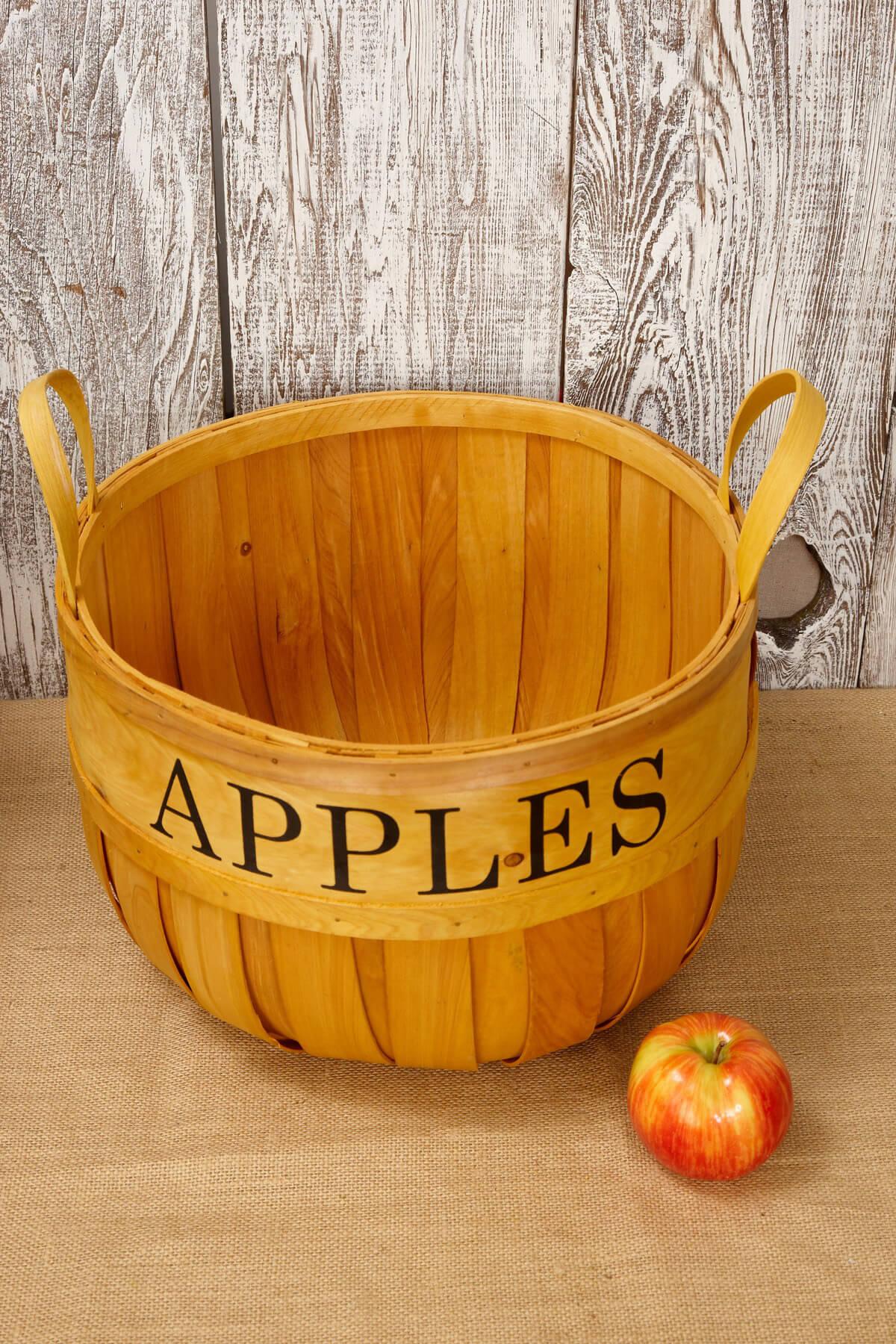 14in Chipwood Apple Basket