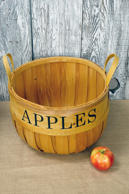14in Chipwood Apple Basket