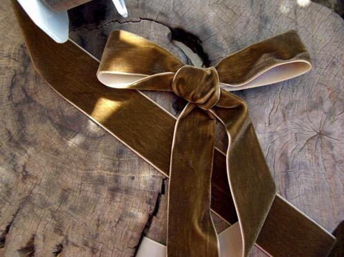 "Soft Velvet Brown SF Wired Ribbon 1-1/2"" width x 11 yds"