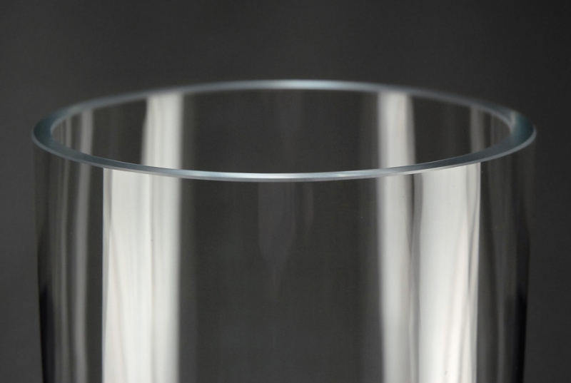 Cityscape Tall Cylinder Vases 6 x 32  Clear Glass