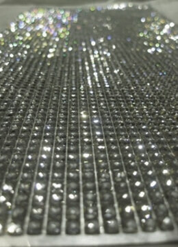 Clear Adhesive Backed Rhinestones Stickers 10 x 11in