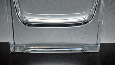Clear Glass Tapered Rectangle Vase 13in