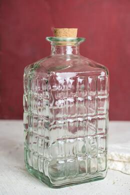 Square Lattice Glass Bottle Cork Top