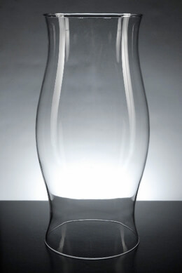 Glass Hurricane Candle Shade 11.5in