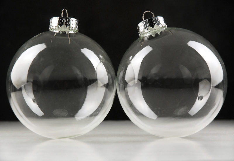 Clear Christmas Tree Balls