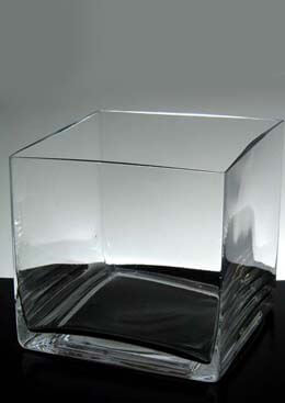 Square Vases Clear Glass  5x5