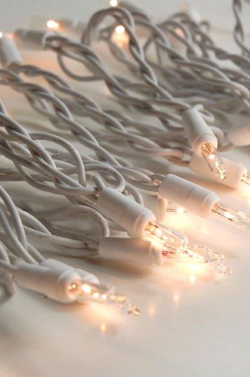 Clear Mini String Lights White Wire 35 CT 10 FT Indoor Only