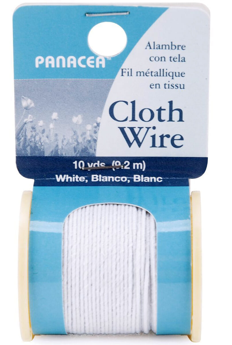 Paper covered craft wire - Floral Stem Wire White Cloth 12 Spools 32 Gauge