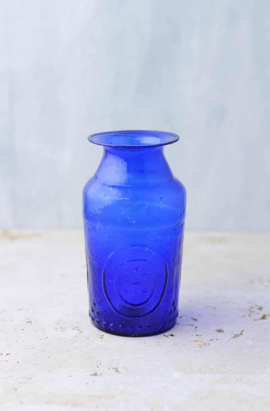 Cobalt Blue Glass Vases 5 25in