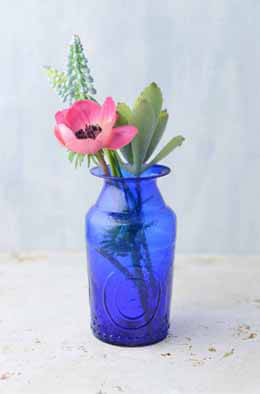 Cobalt Blue Glass Vases 5.25in