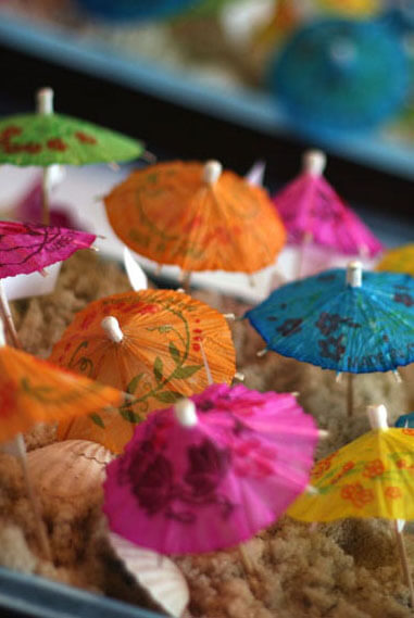 12 Cocktail Tropical Drink Umbrellas
