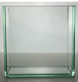 "Contemporary Vases 8"" Square Thick Glass"