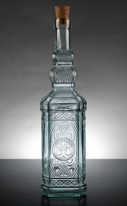 Moroccan Glass Table Water Bottles 12in