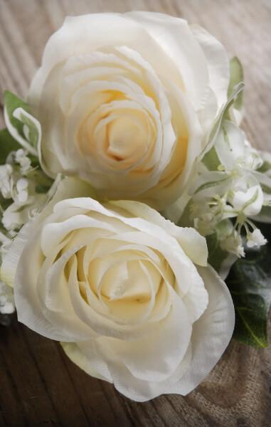 Rose stephanotis corsage cream green mightylinksfo