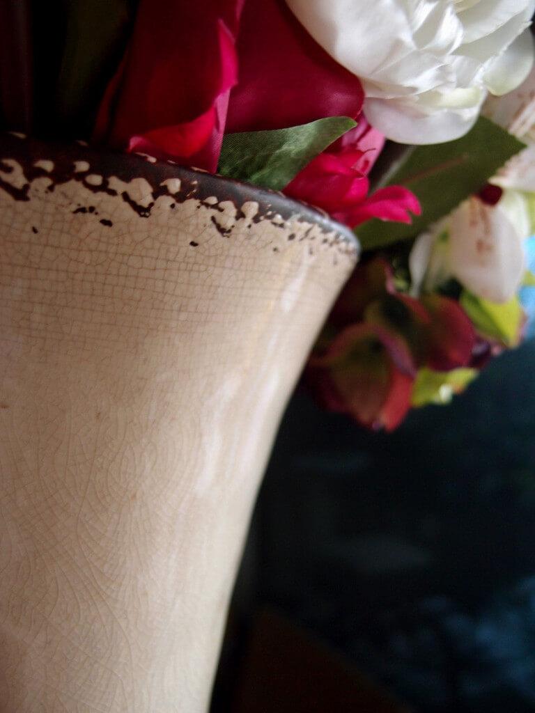 """Legacy Ceramic Crackle Glaze Vase Urn 12.5"""""""