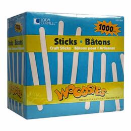 Woodsies 1000 Popsicle Sticks Loel Cornell
