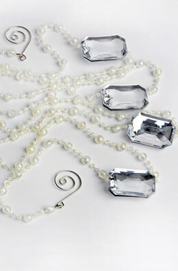 Crystal Bead Garland Iridescent Silver 6ft