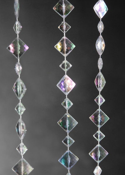Iridescent Crystal Beaded Curtains 3ft X 6ft