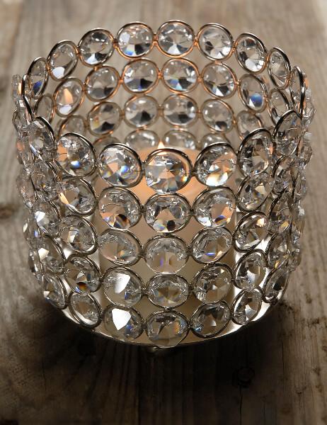 Diamond Bottle Holder / Candle Holder