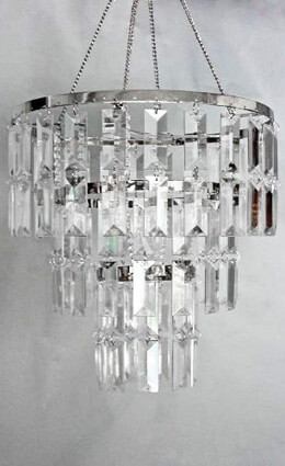 Crystal Chandelier Round 10.5x11 with Lights