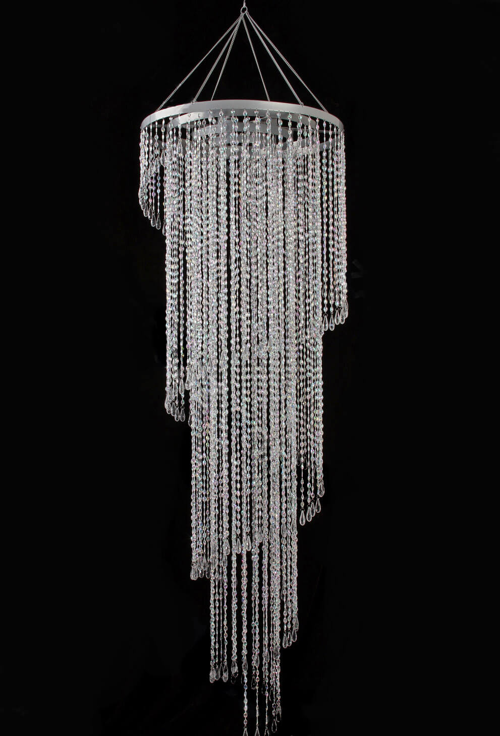 Crystal Chandelier Swirl Extra Long 72 Quot With Lighting Kit