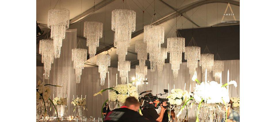 four tier crystal chandelier plug in 77in