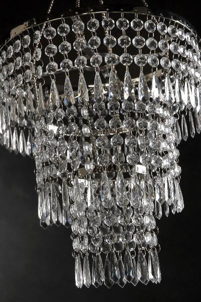 crystal pendant chandelier 3 tier 12in w lighting kit