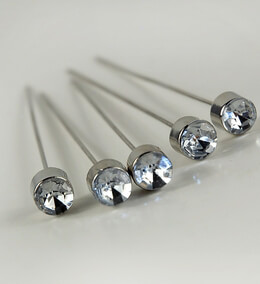 Corsage Pins Crystal 3in (Pack of 5)