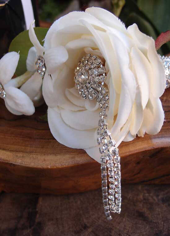 Crystal Bouquet Pin