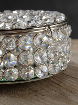 Crystal Round Jewel Box 5 1/2""