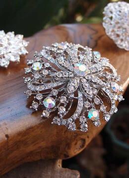 Crystal Pins and Brooches