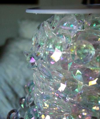 Iridescent Round Crystals Garlands 66 Feet