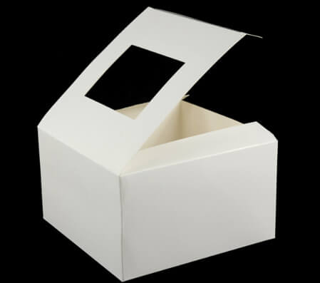 Pastry Box with Window, 4 Boxes, 6x6