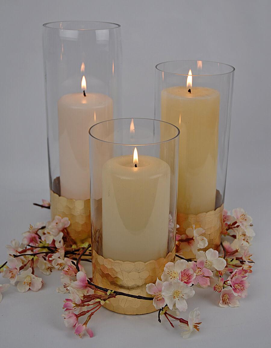 Gold Honeycomb Cylinder Vase 8 Quot X 4 Quot