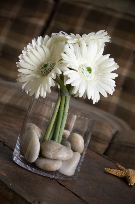 3-3/4 Clear Glass Cylinder Vase- Recycled Glass