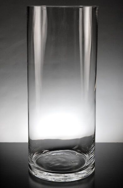 Clear Glass 5 X 13 Cylinder Vases Set Of 6