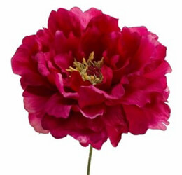 Artificial Peony Flower Magenta