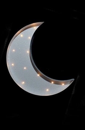 Marquee White Crescent Moon Led Battery Op 13 Quot