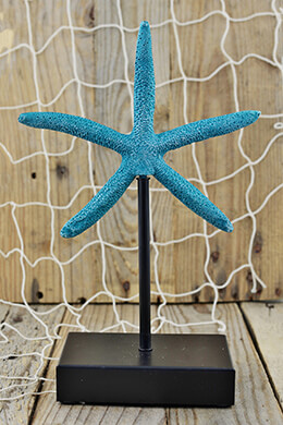 Blue Starfish on Stand 10x6.5in