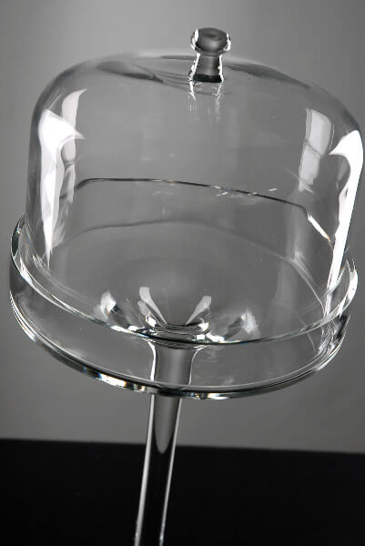 "16"" Dessert Stand Glass Cloche & Dome"